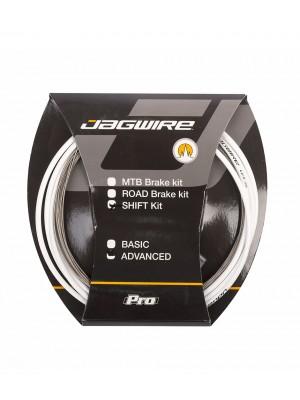 KIT CABLES/FUNDAS JAGWIRE CAMBIO ADVANCED BLANCO